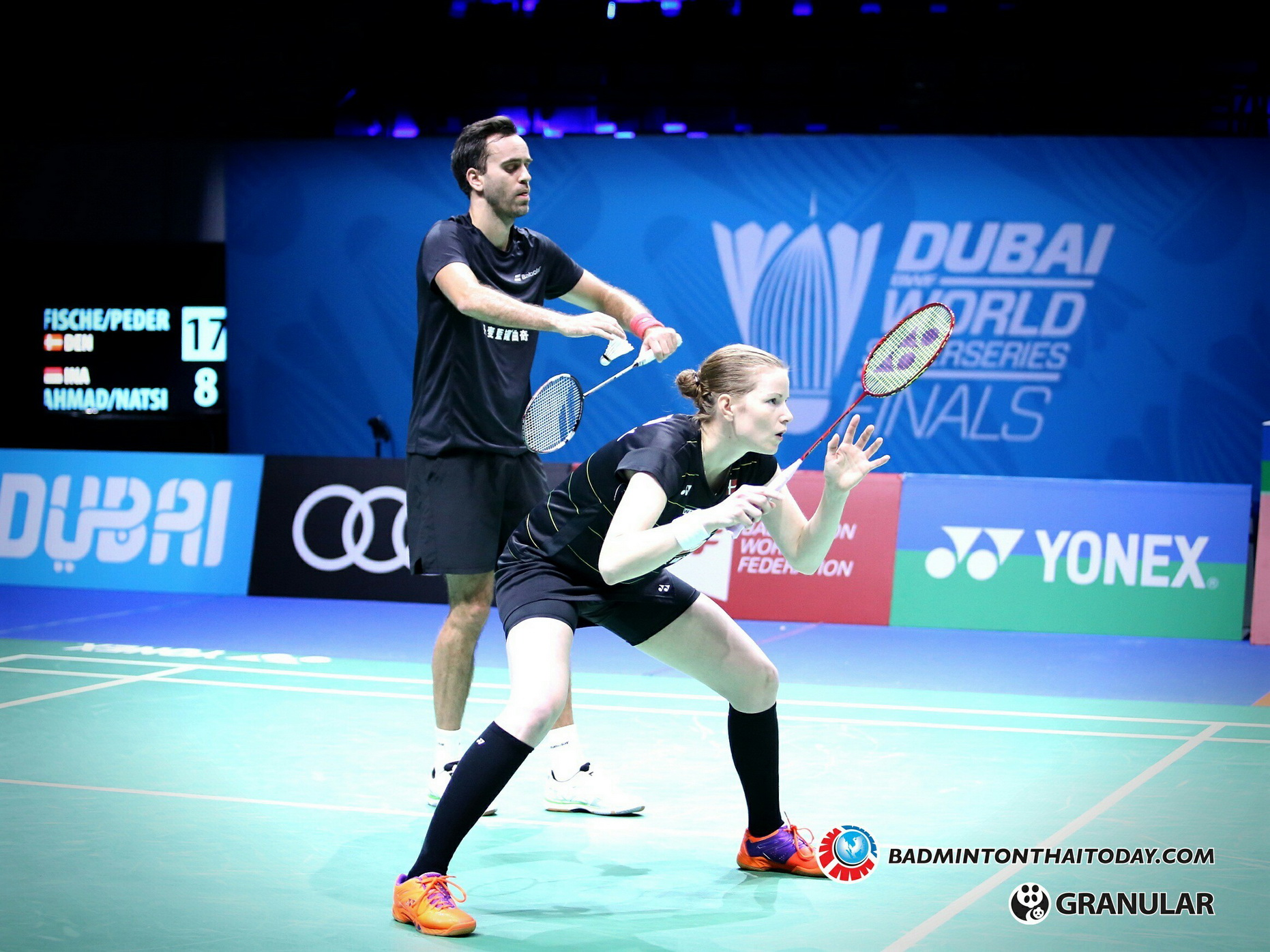 Joachim Fischer Nielsen - Christinna Pedersen@ Dubai World Superseries Final 2016 รูปภาพกีฬาแบดมินตัน