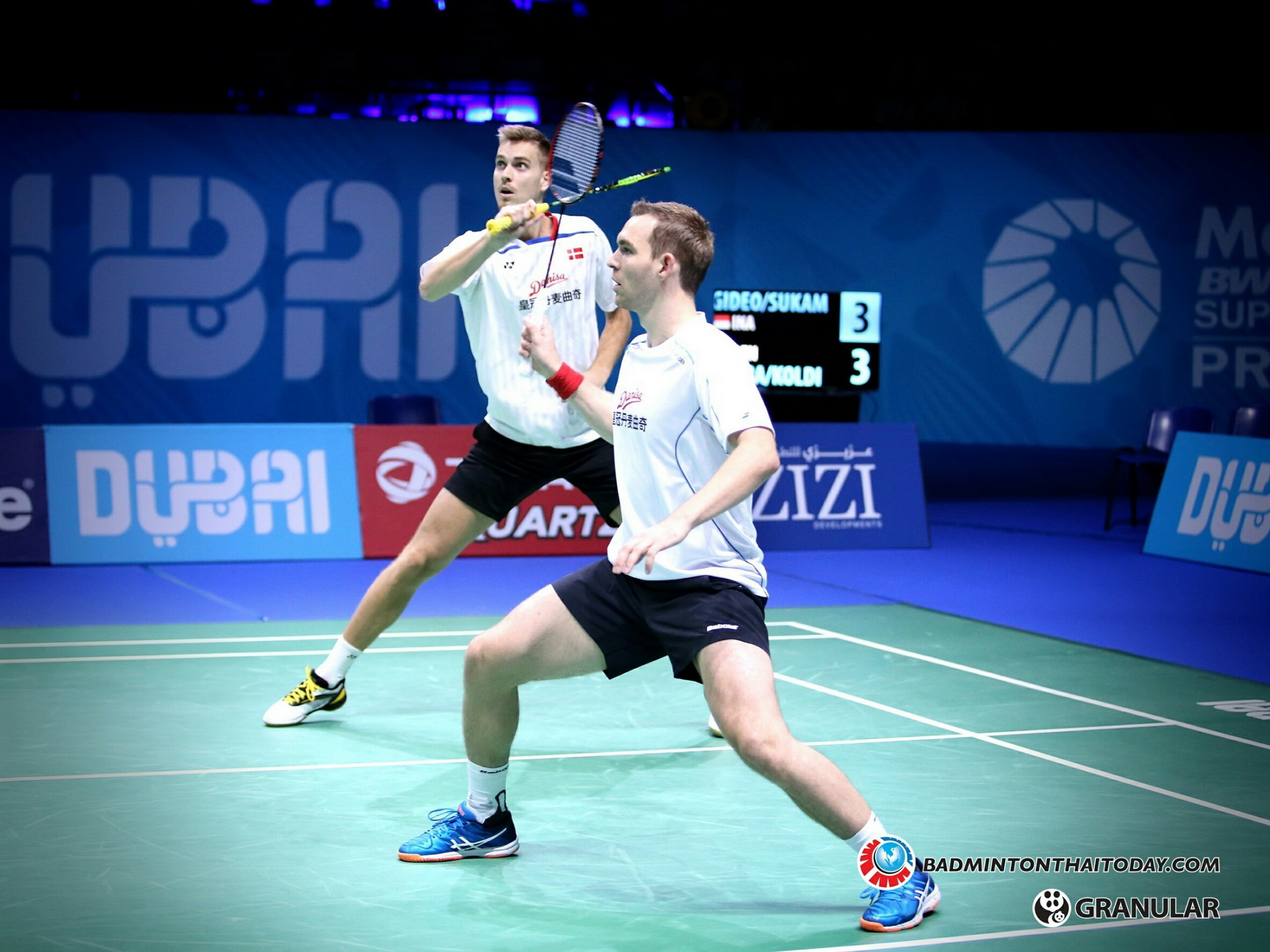 Mads Conrad-Petersen - Mads Pieler Kolding @ Dubai World Superseries Final 2016 รูปภาพกีฬาแบดมินตัน