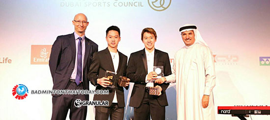 Marcus – Kevin ควง Chen Qingchen คว้ารางวัล Player of the Year