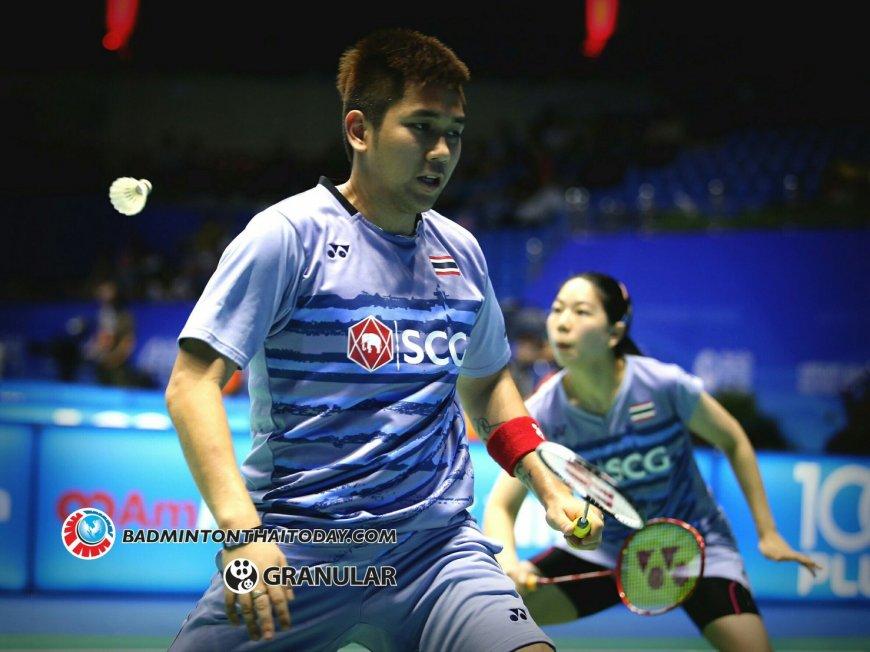 อาท เอ็มเอ็ม แพ้ คู่จากมาเลเซีย ตกรอบแรกในศึก OUE Singapore Open